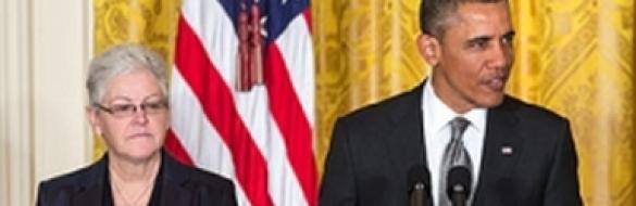 President Barack Obama and Environmental Protection Agency Administrator Gina McCarthy