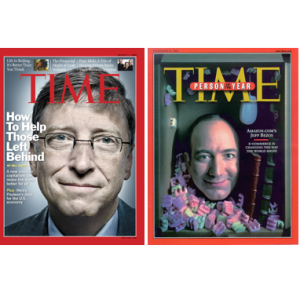 Two tech titans. Two very different views of philanthropy.