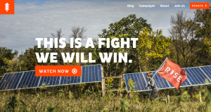 Solar panels on NextGen's homepage.
