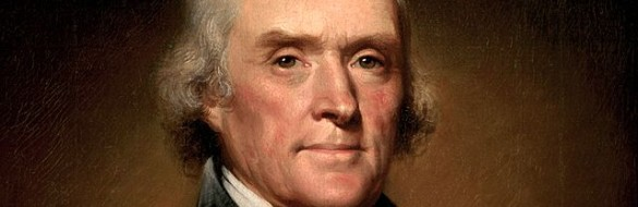 Thomas Jefferson Official White House Portrait by Rembrandt Peale, 1805