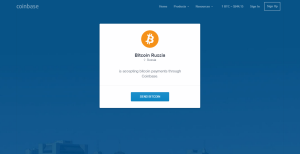 """Bitcoin Russia"" on Coinbase"