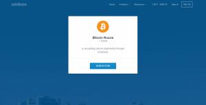 """Bitcoin Russia"" on Coinbase"