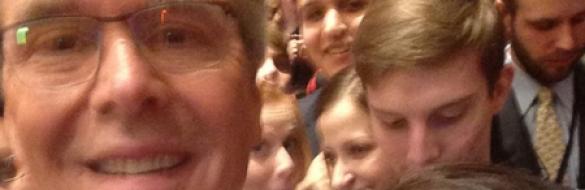 Jeb Bush takes a selfie at CPAC (via Twitter)