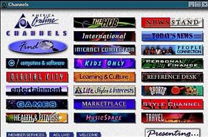 America Online Channels