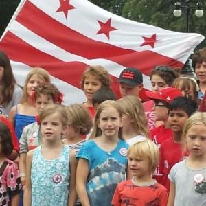 District Kids Sing John Oliver's D.C. Statehood Song Outside the U.S. Capitol Building