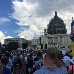 Trump and Cruz Lead Raucous Capitol Hill Rally Against Obama's Iran Deal