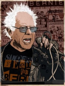 """The Young Turk's """"Bernie So Punk"""" poster."""