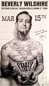 The original Sabo poster that caught Cruz's eye.
