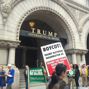 DC Unions Picket Outside Trump's Capital Hotel [PICTURES]