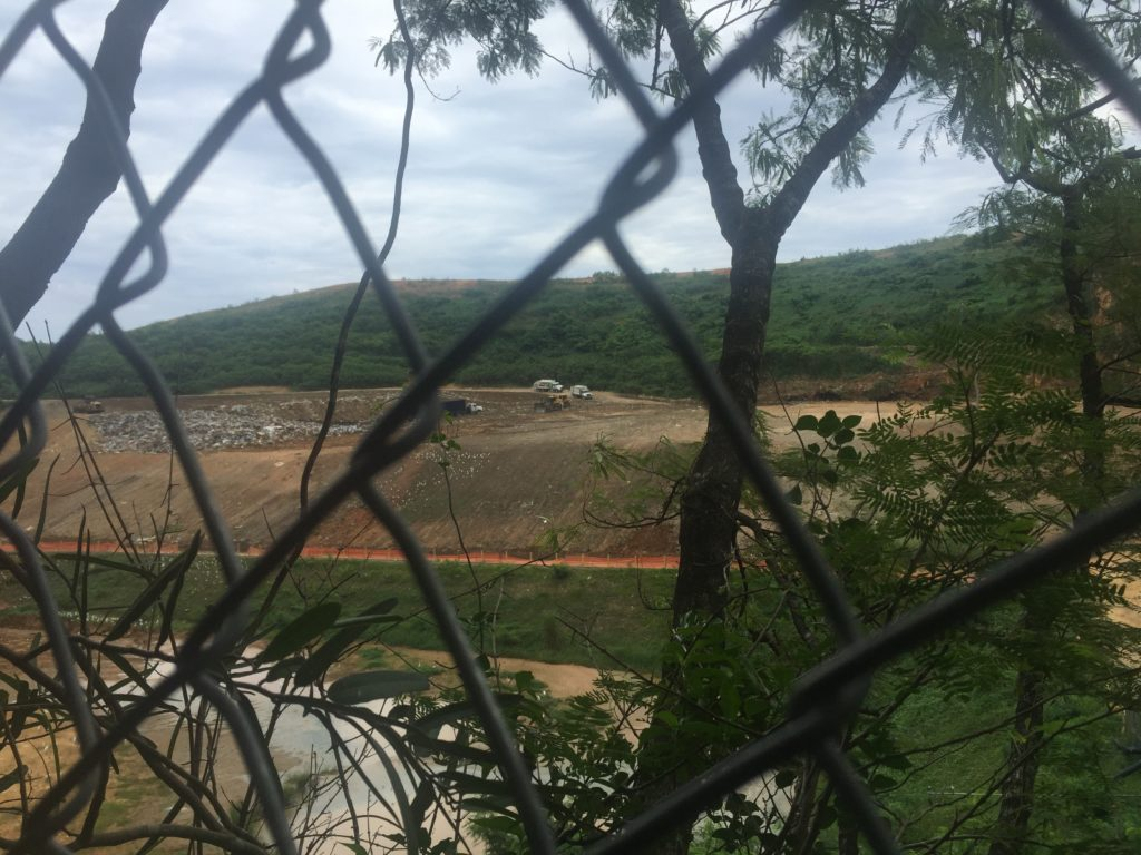 A view of the Toa Baja landfill from the Candelaria neighborhood, just outside of San Juan, P.R. (Photo Credit: Kyle Plantz)