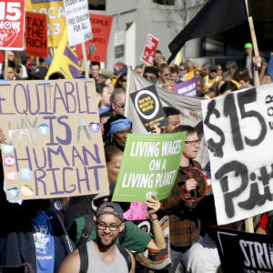 Fight for $15 Celebrates Four Year Anniversary With Protests and Arrests