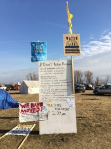 Sign shows principles of direct action at Sacred Stone camp Credit: Erin Mundahl, InsideSources