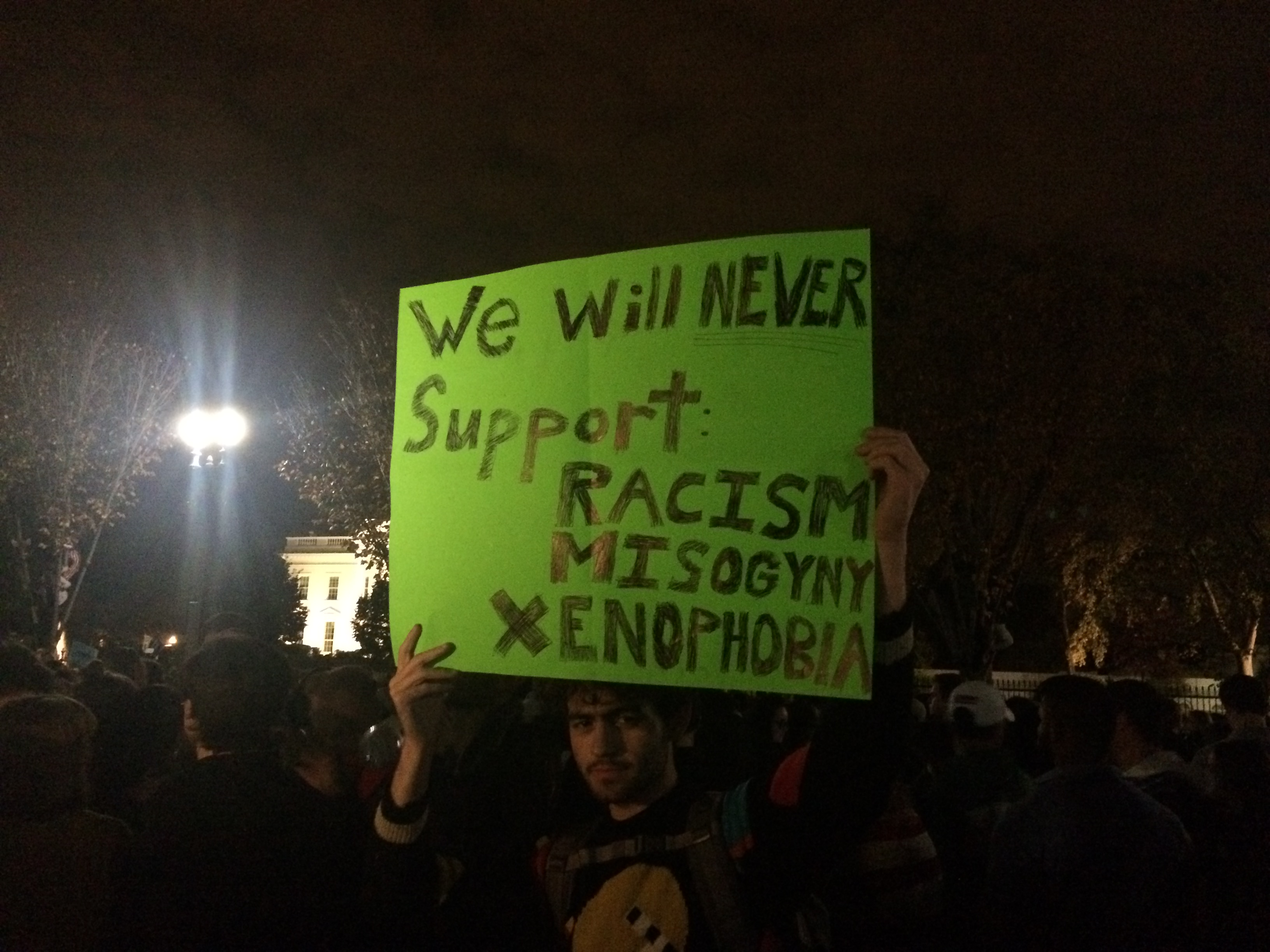Donald Trump victory protest (Connor D. Wolf/InsideSources)