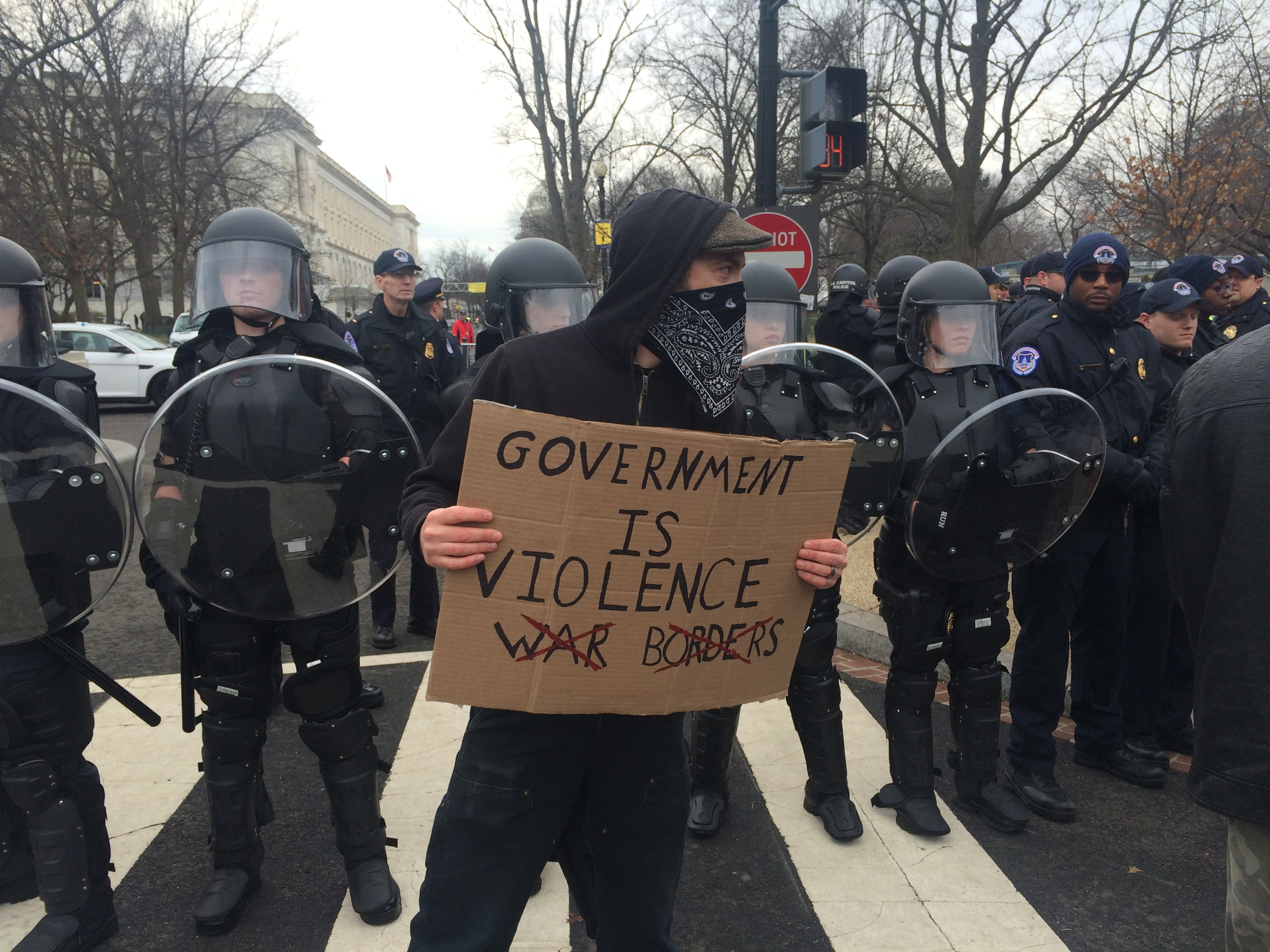 Inauguration Day Protests (Connor D. Wolf/InsideSources)