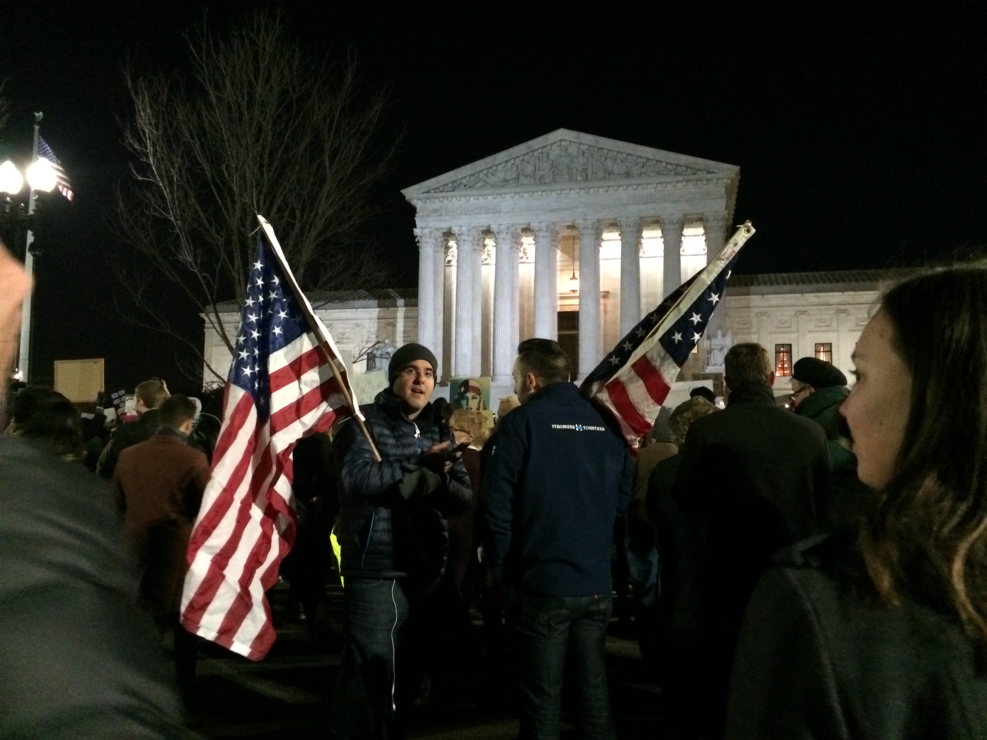 Muslim travel ban protest (Connor D. Wolf/ InsideSources)