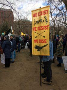 Protester at Lafayette Park (Erin Mundahl/InsideSources)