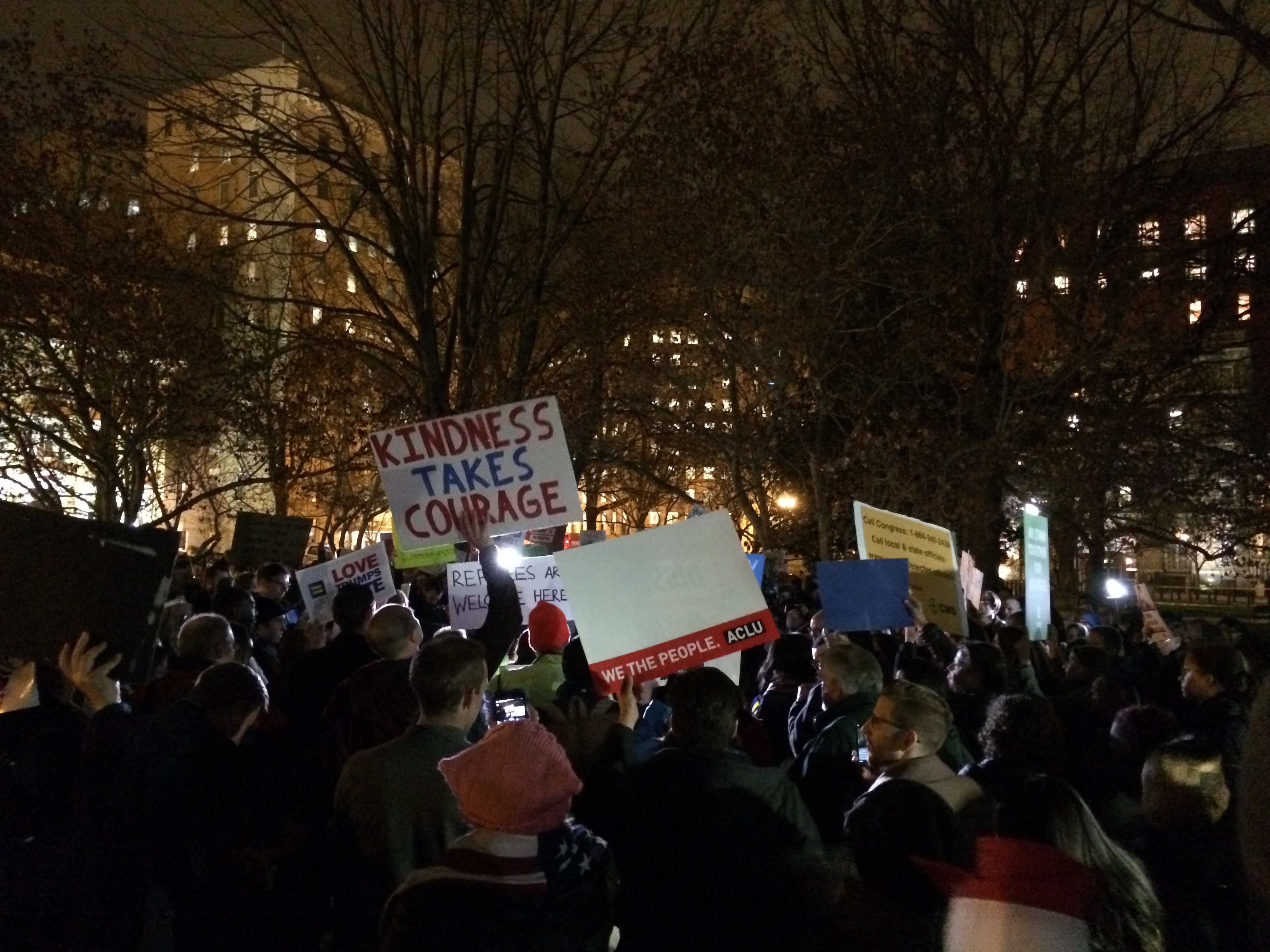 White House protest against revised travel ban (Connor D. Wolf/InsideSources)