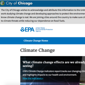 Cities Pledge to Maintain EPA Website on Climate Change