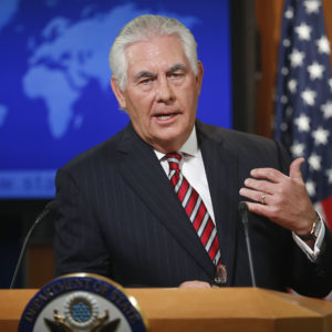 Secretary of State Tillerson Enters New Diversity Frontier