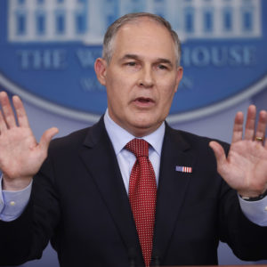 After a Year Under Pruitt's Leadership, the EPA Shows Major Changes