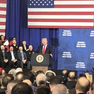 President Trump Brings Big Government to the Granite State to Fight Opioid Addiction—And Republicans Cheer!