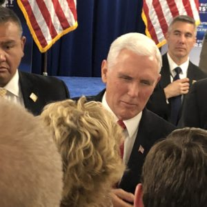 Vice-President Mike Pence Brings Trump's Message—and a Lot of Math—to New Hampshire