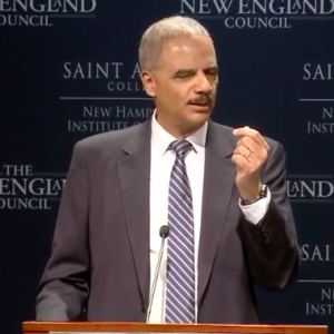 "Holder in New Hampshire: ""Trump Uses Race As A Wedge Issue"""