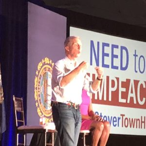 Tom Steyer Talks Impeachment, Politics–and Puppies–at N.H. Town Hall