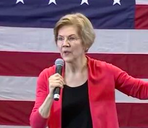 Elizabeth Warren Strikes Trumpian Themes in First Granite State Campaign Stop