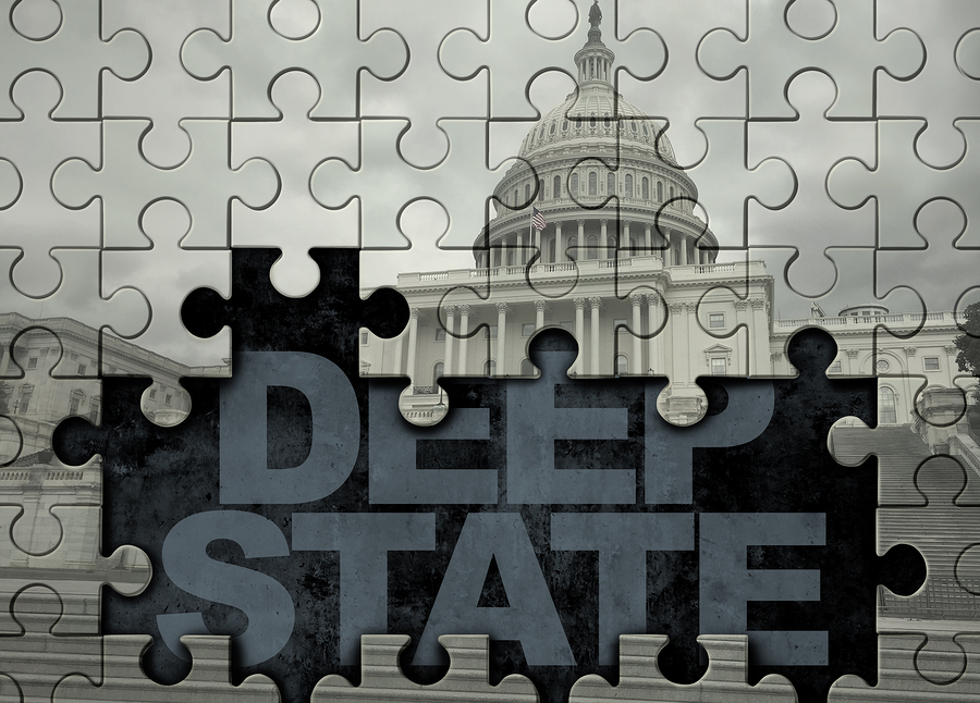 Deep State American Politics Concept And United States Political ...