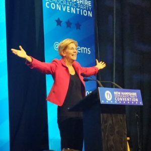 Liz Warren Gets Rock Star Treatment From Granite State Dems
