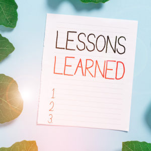 My Seven Plus Lessons Learned Last Year