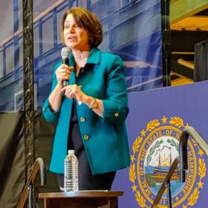 Klobuchar, Pressley Stump Across NHDems' Ideological Fault Line