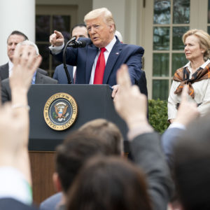 Democrats Talk, President Trump Walks the Walk on Healthcare Reform