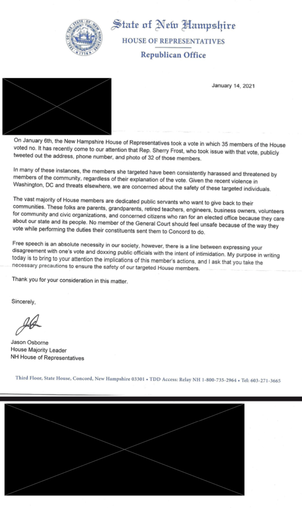 Osborne Letter to Police Chiefs